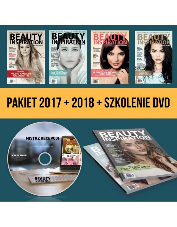 PAKIET PRENUMERATA + BEAUTY INSPIRATION 2017 + DVD